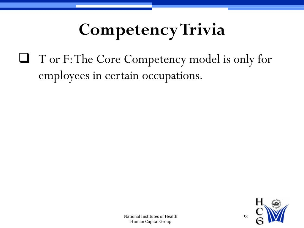 Competency Trivia