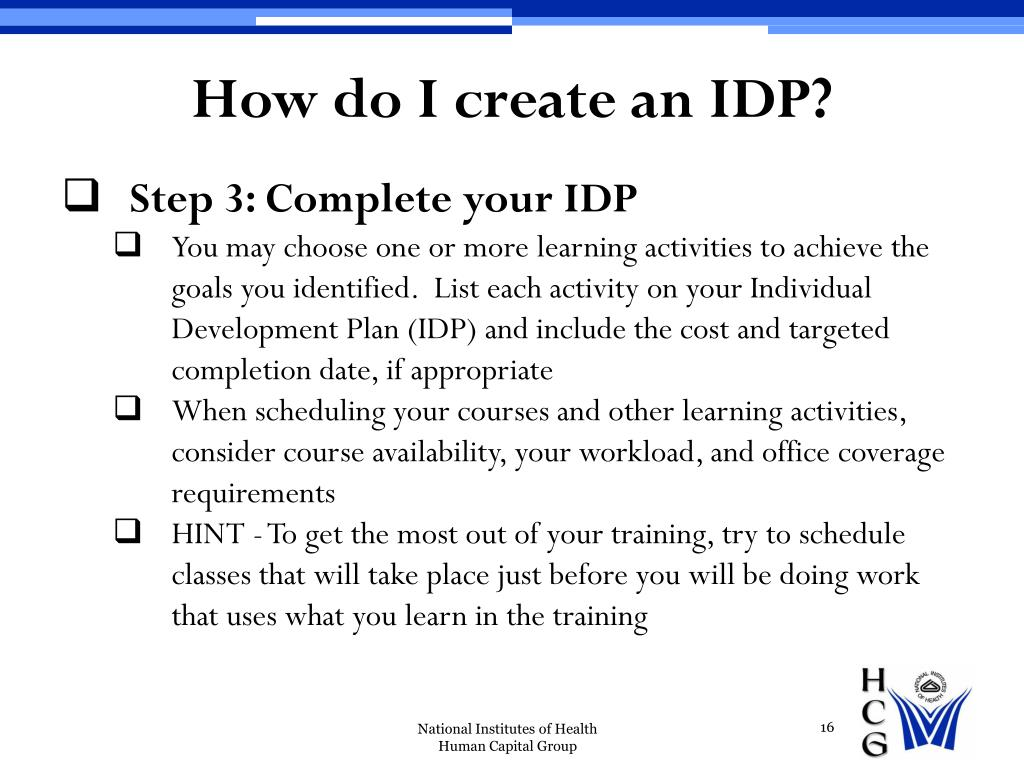 How do I create an IDP?