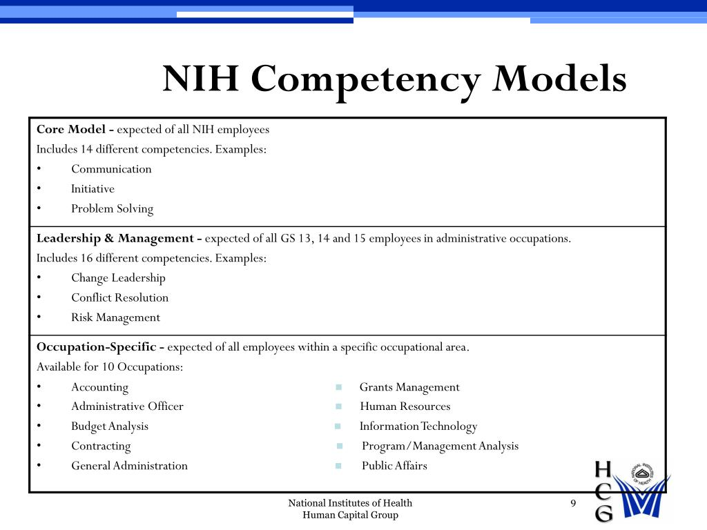 NIH Competency Models
