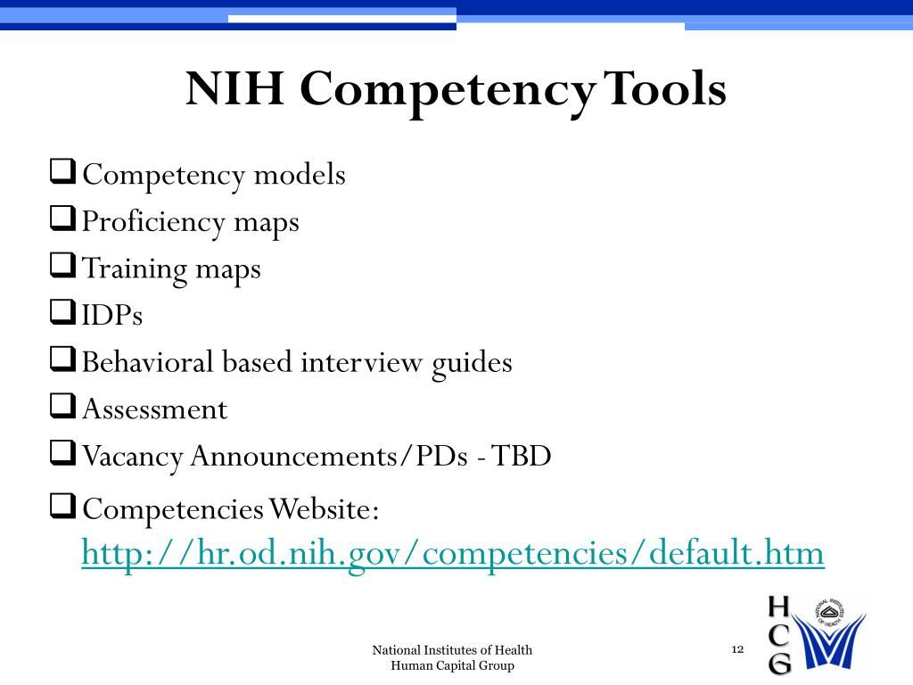 NIH Competency Tools