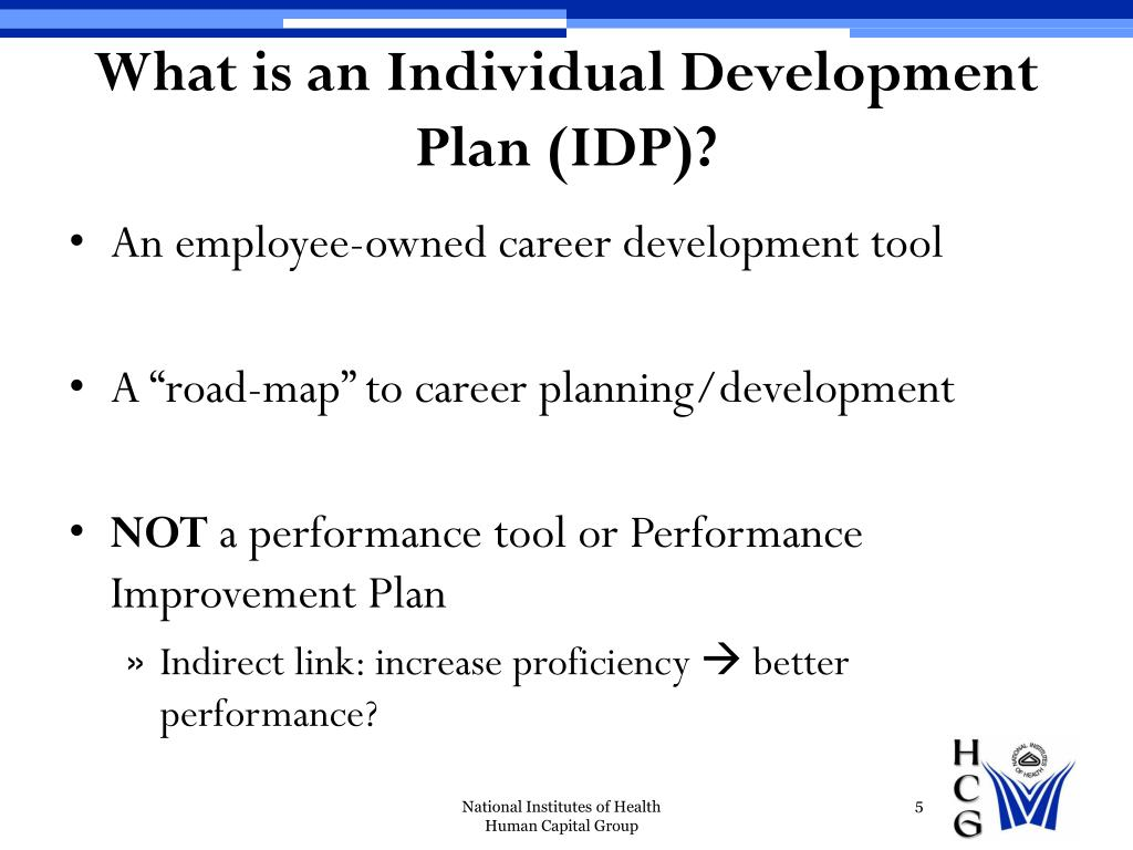 What is an Individual Development Plan (IDP)?