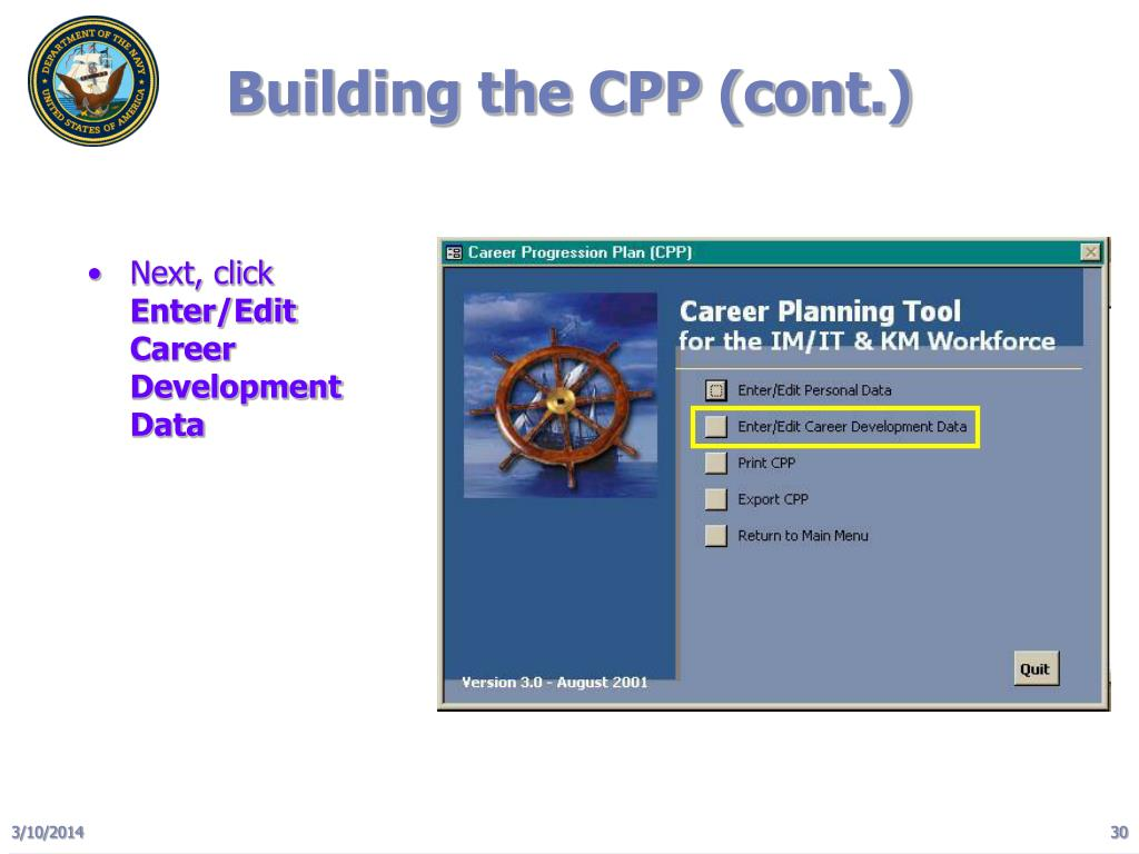 Building the CPP (cont.)