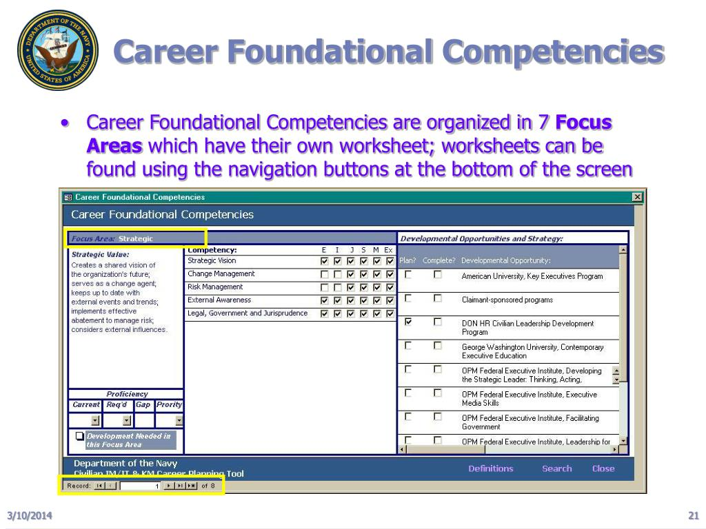 Career Foundational Competencies