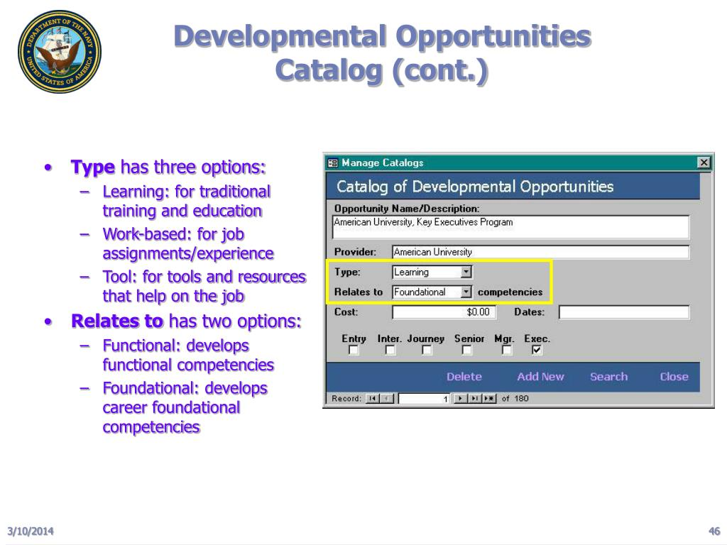 Developmental Opportunities