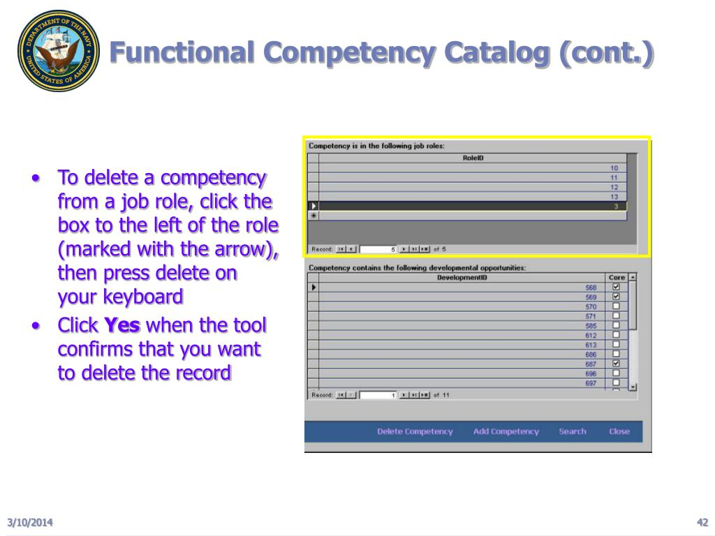 Functional Competency Catalog (cont.)