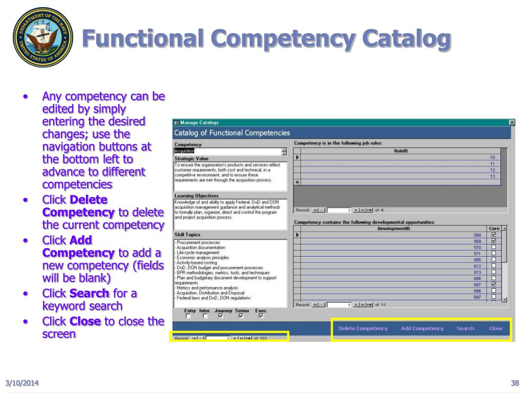 Functional Competency Catalog