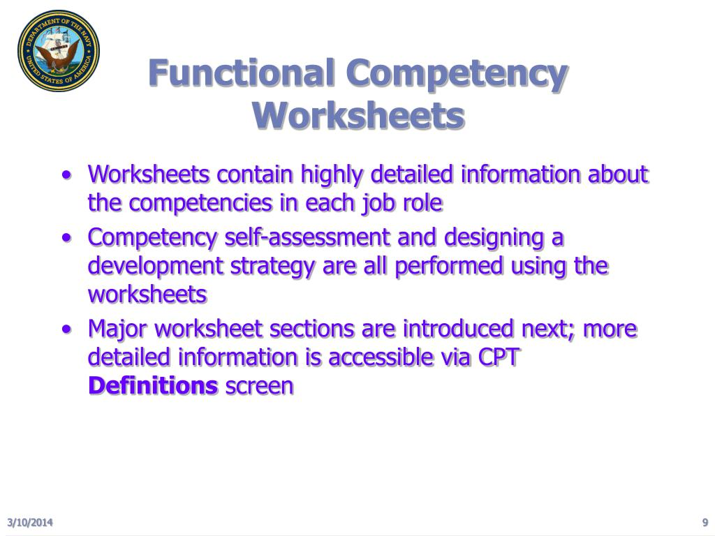 Functional Competency Worksheets