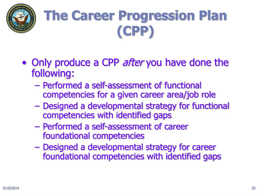 The Career Progression Plan (CPP)