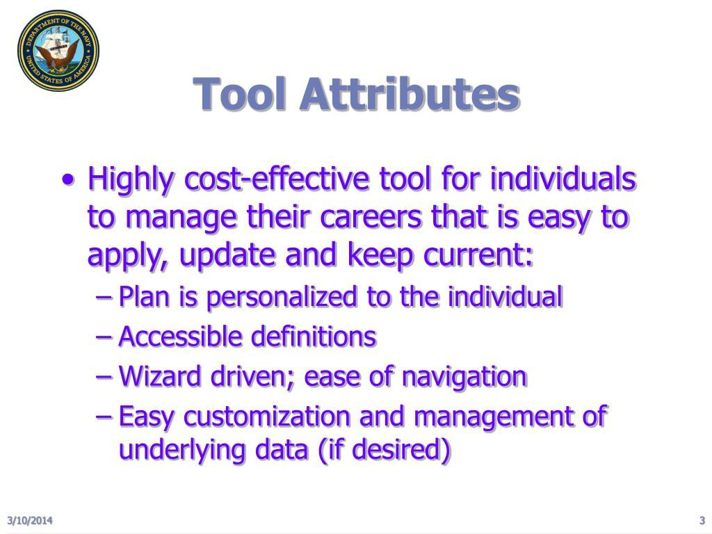Tool Attributes