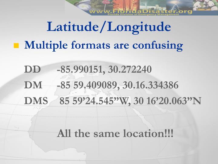 Latitude/Longitude