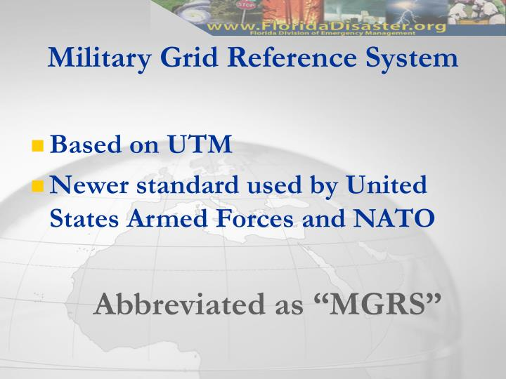 Military Grid Reference System