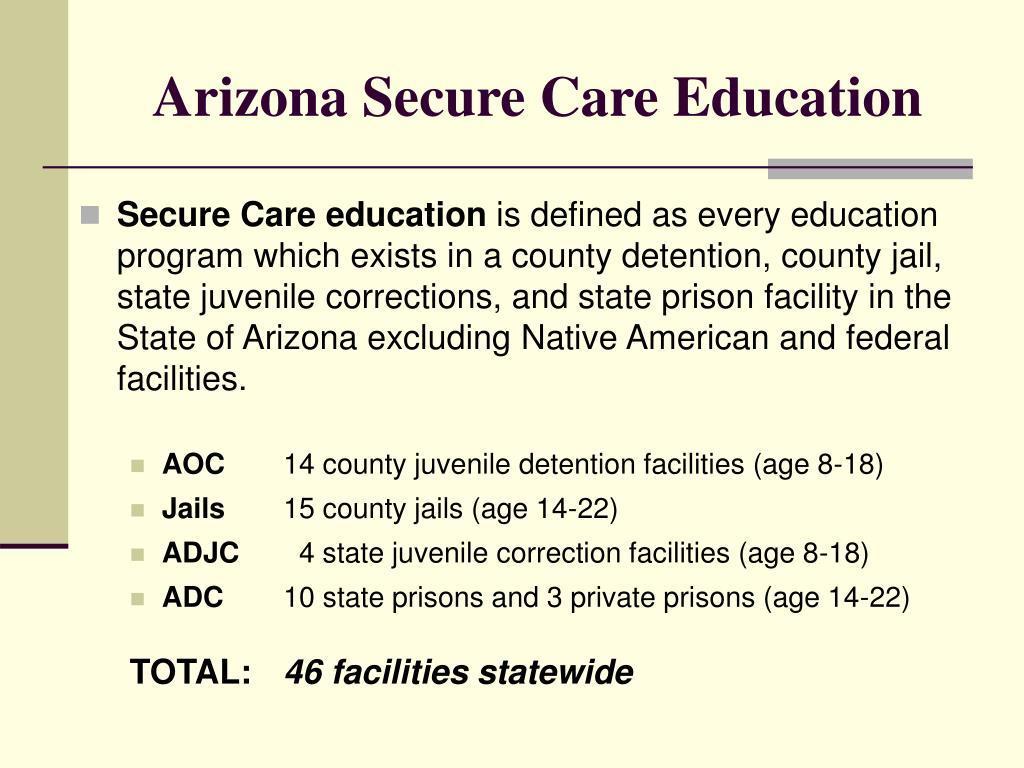 Arizona Secure Care Education