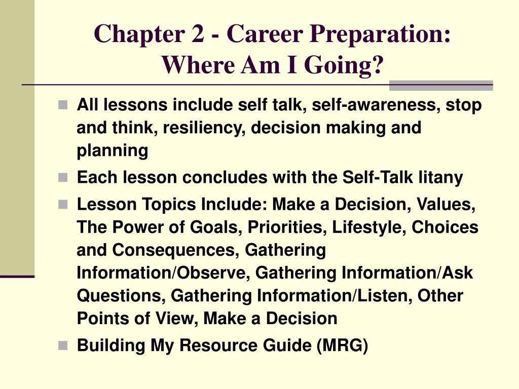 Chapter 2 - Career Preparation: