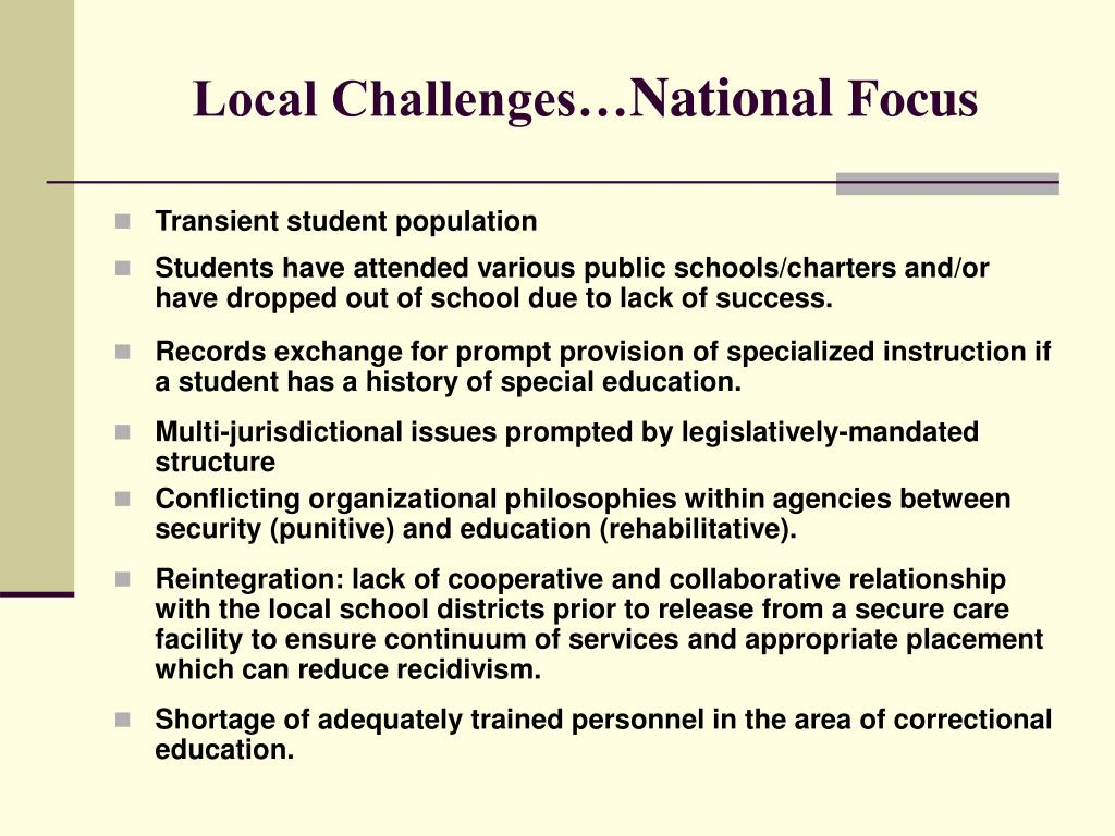 Local Challenges…