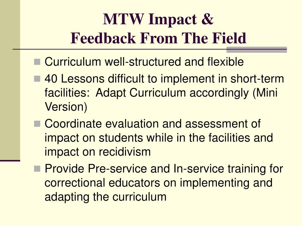 MTW Impact &