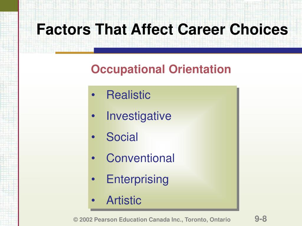 Factors That Affect Career Choices