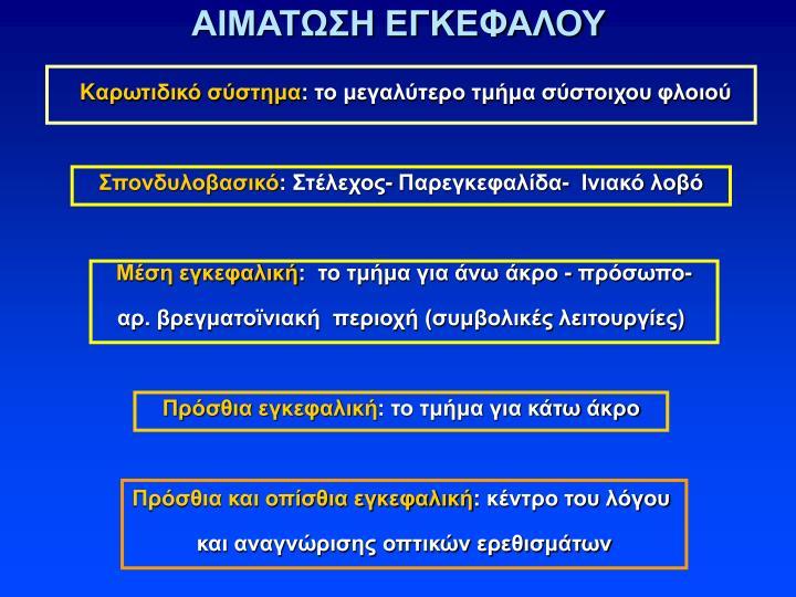 ΑΙΜΑΤΩΣΗ ΕΓΚΕΦΑΛΟΥ