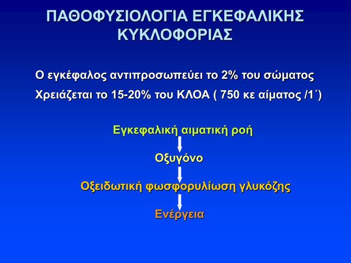ΠΑΘΟΦΥΣΙΟΛΟΓΙΑ ΕΓΚΕΦΑΛΙΚΗΣ ΚΥΚΛΟΦΟΡΙΑΣ