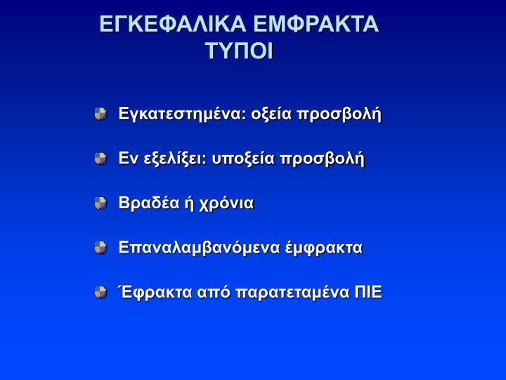 ΕΓΚΕΦΑΛΙΚΑ ΕΜΦΡΑΚΤΑ