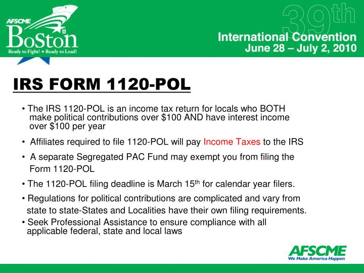 IRS FORM 1120-POL