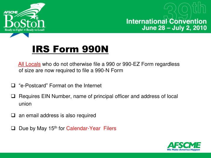 IRS Form 990N
