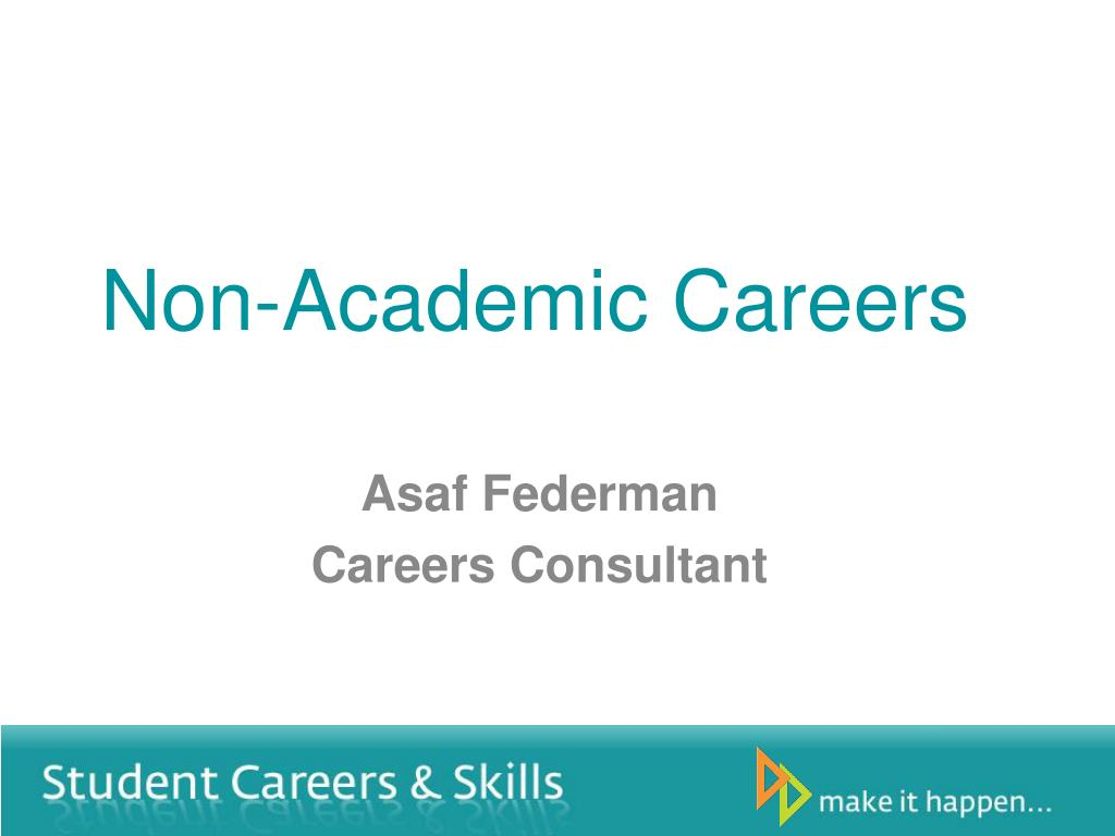 Non-Academic Careers