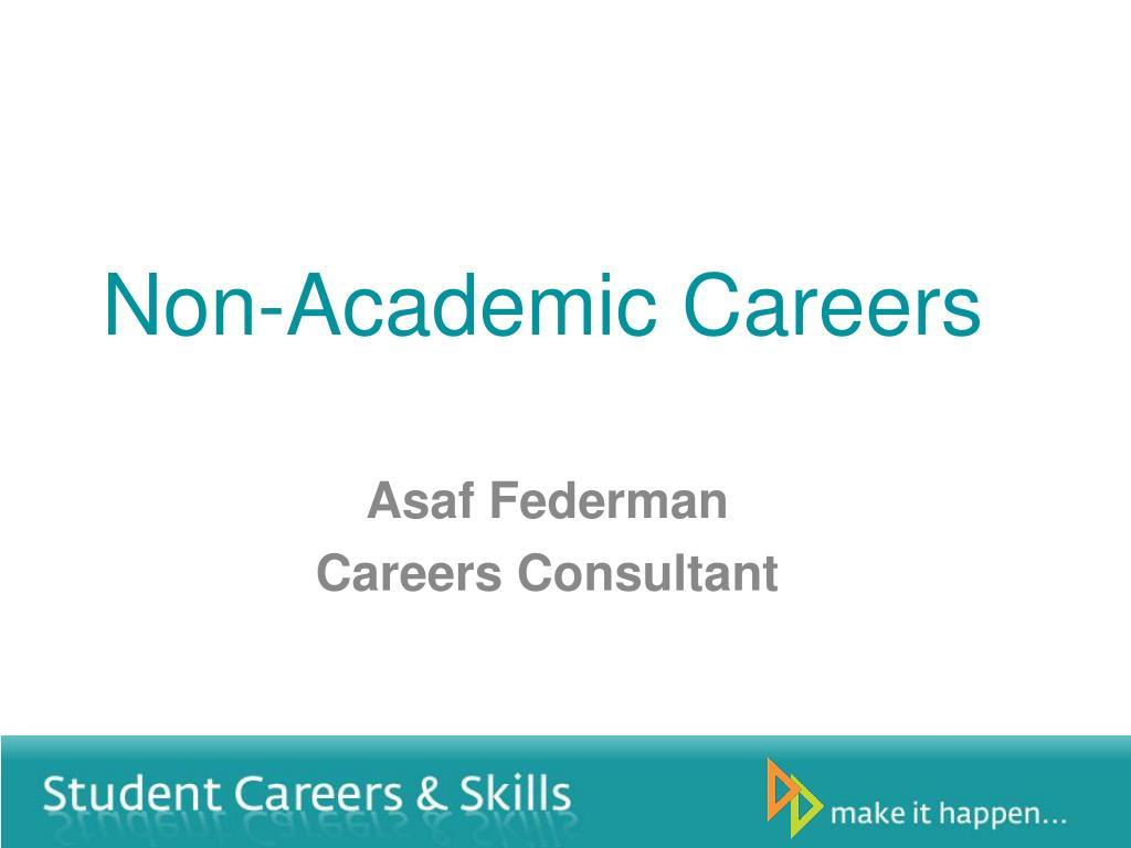 non academic careers
