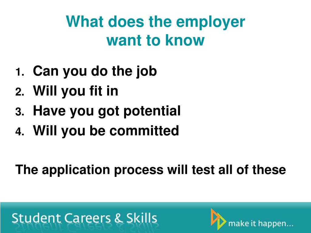 What does the employer