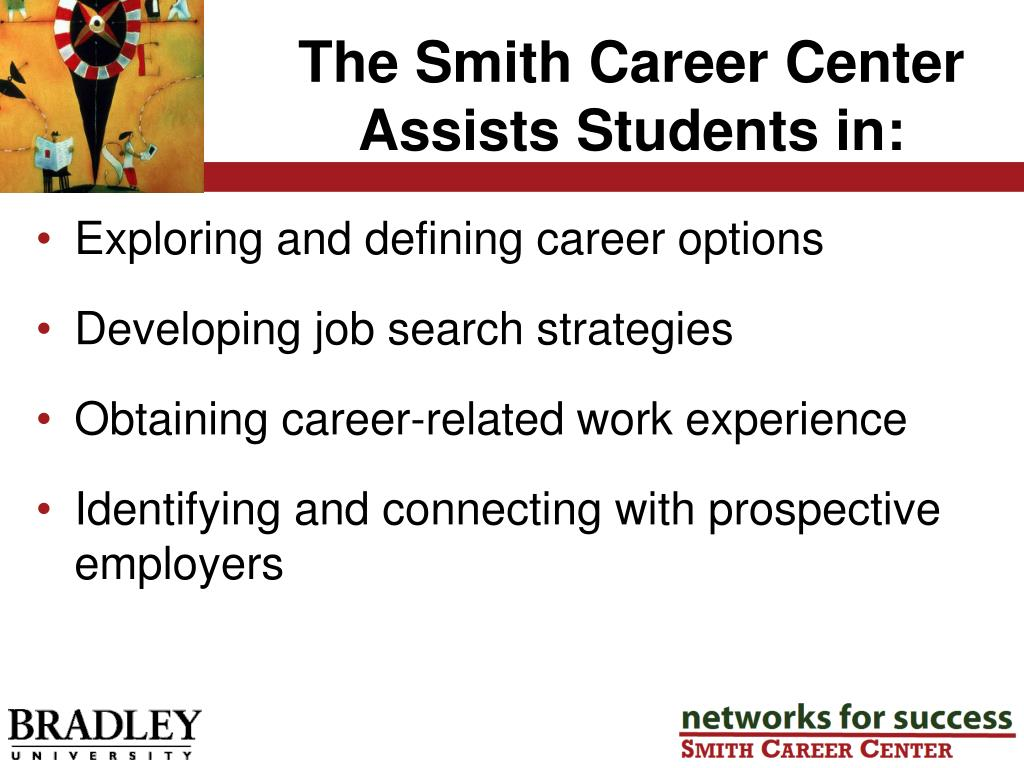 The Smith Career Center Assists Students in: