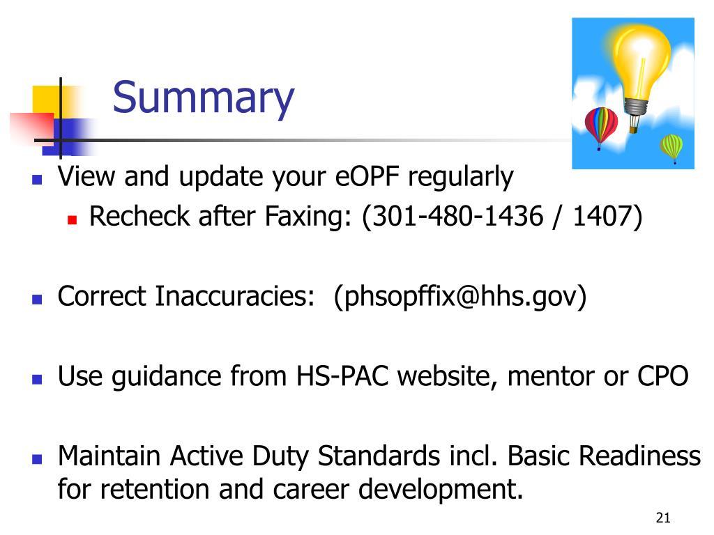 View and update your eOPF regularly