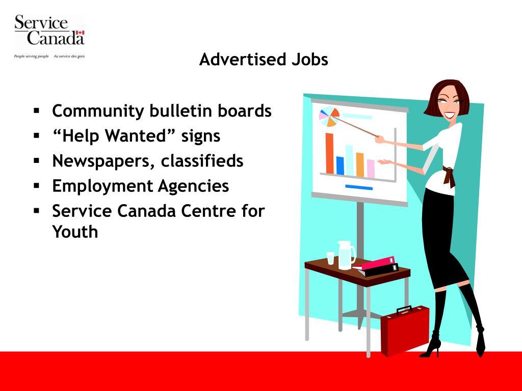 Advertised Jobs