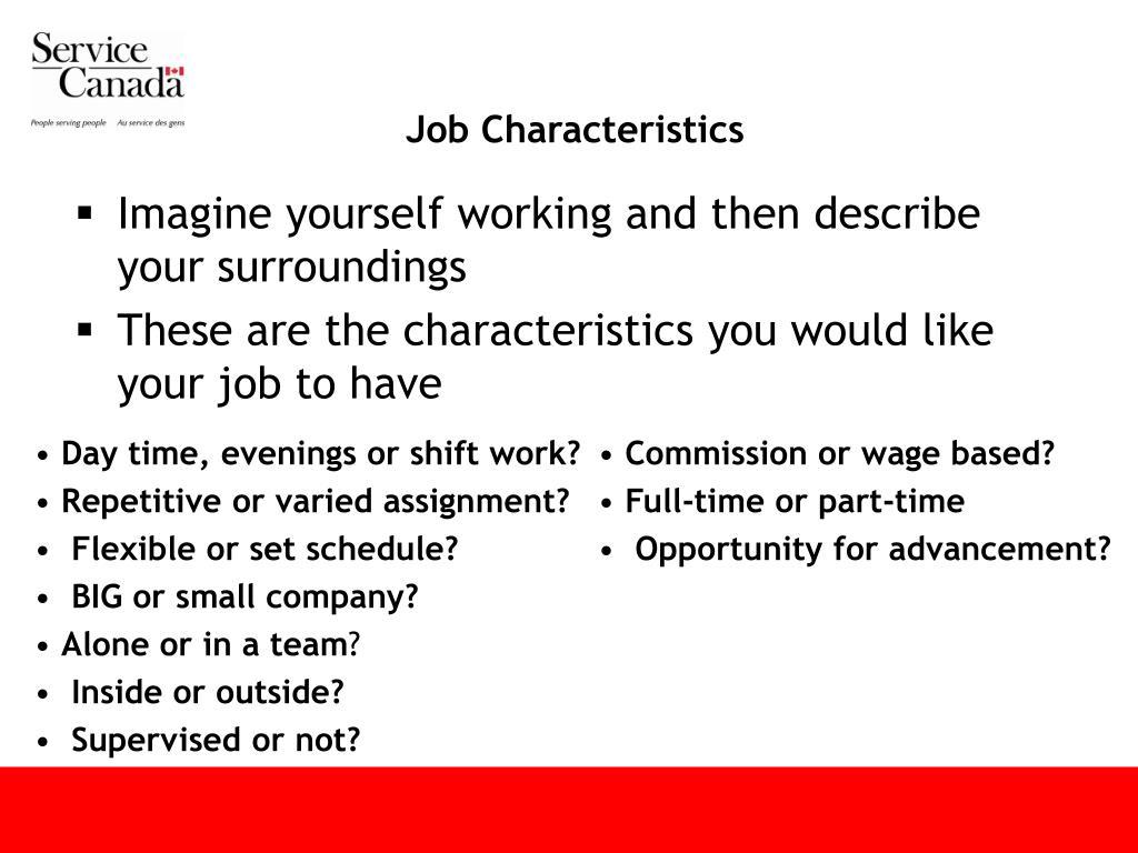 Job Characteristics