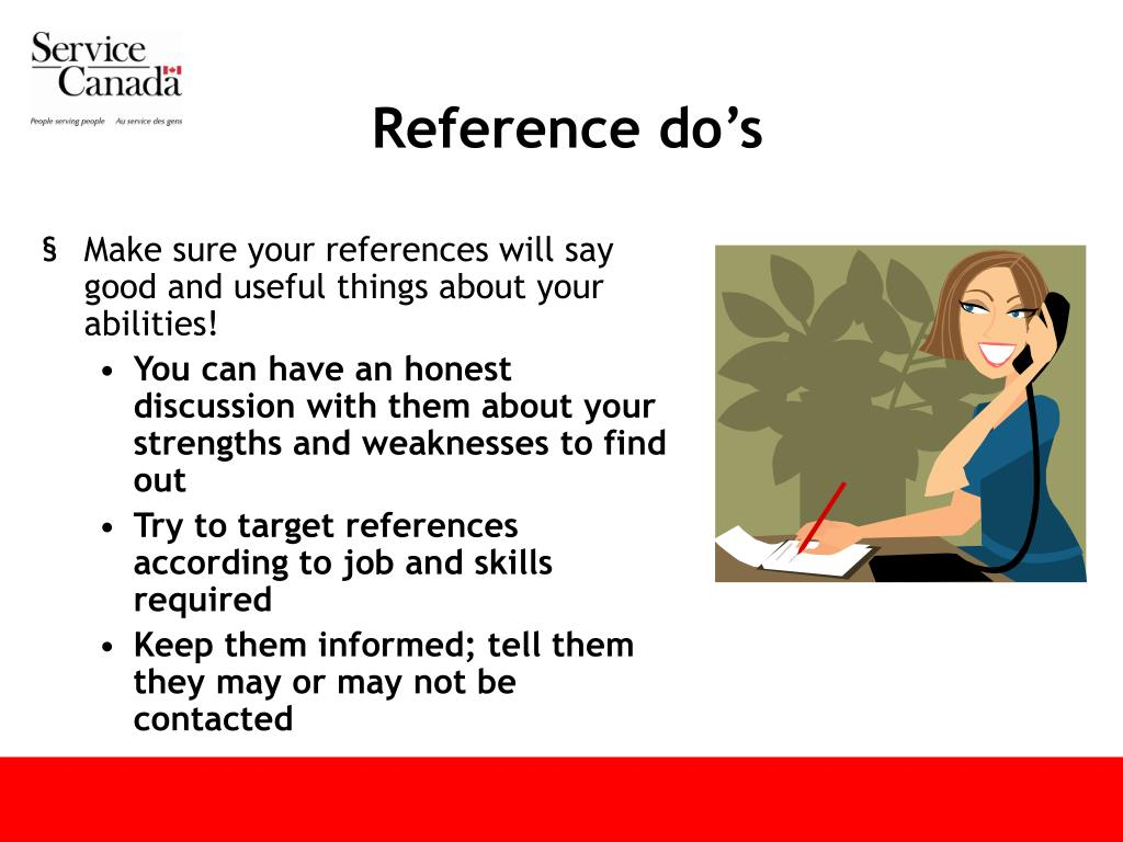 Reference do's