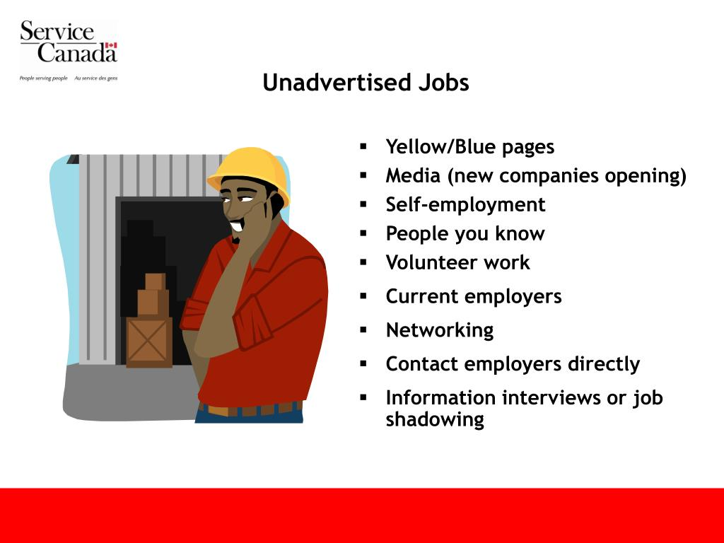 Unadvertised Jobs