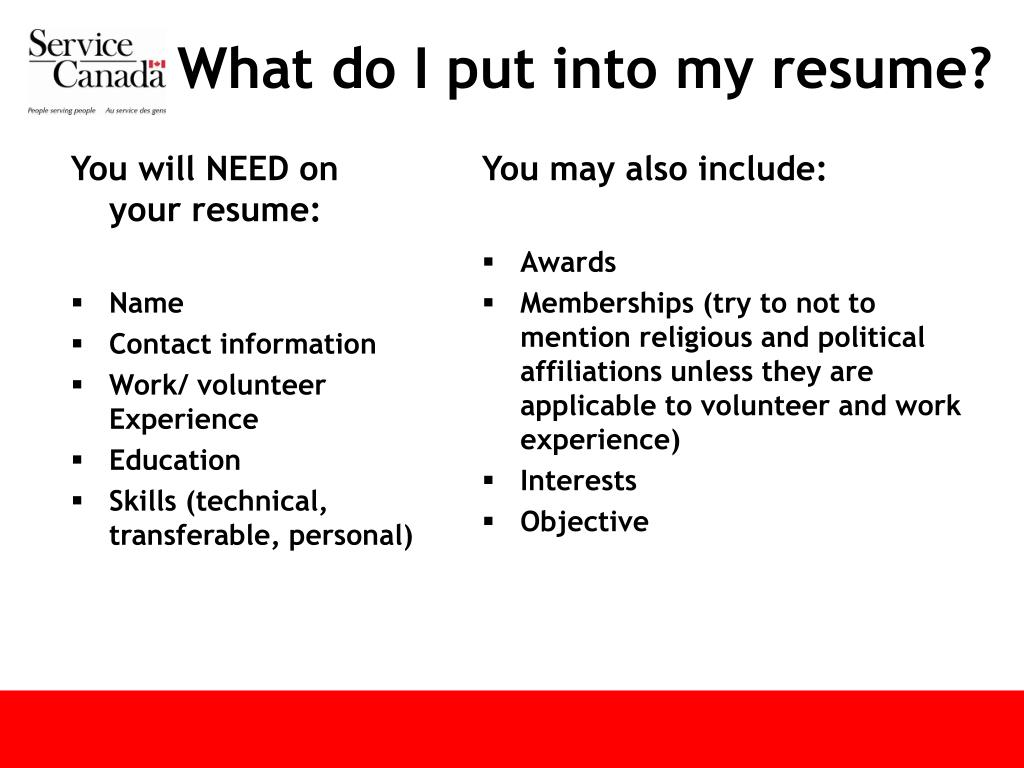You will NEED on your resume: