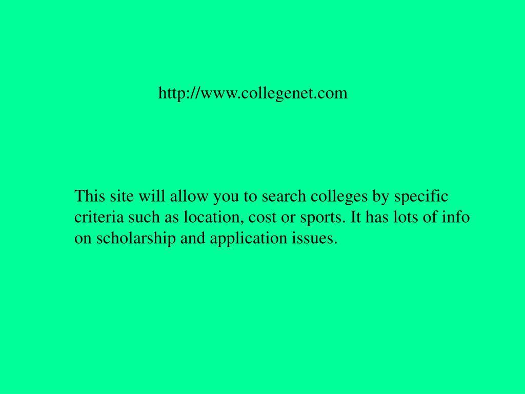 http://www.collegenet.com