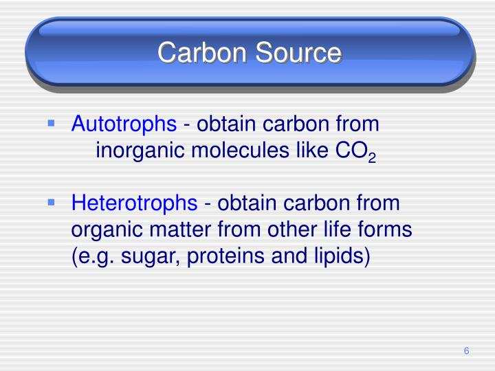 Carbon Source