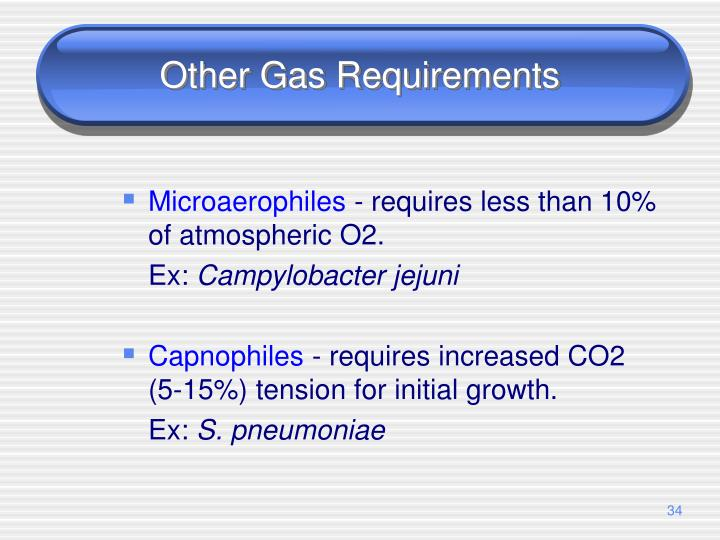 Other Gas Requirements
