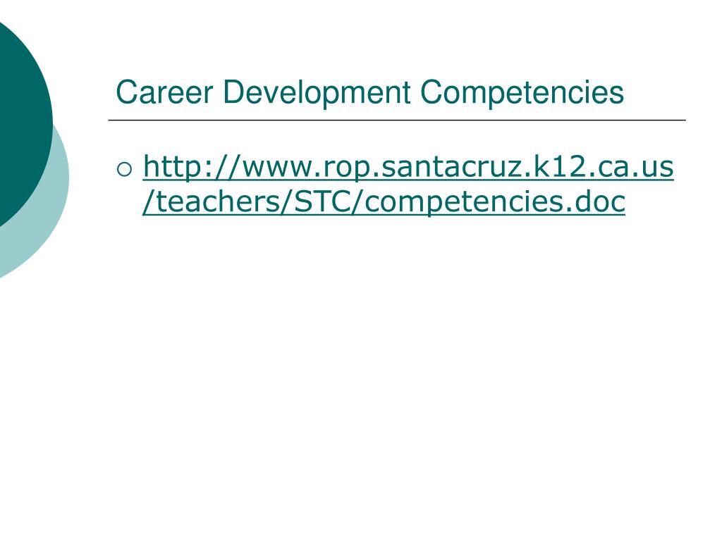 Career Development Competencies