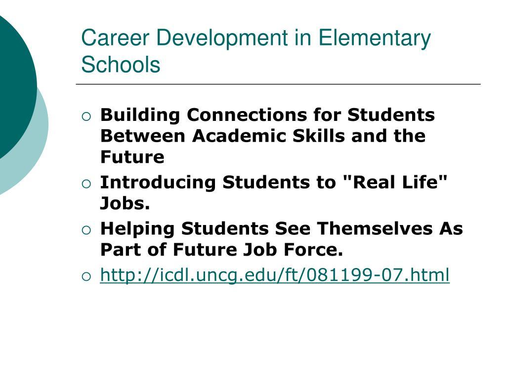 Career Development in Elementary Schools
