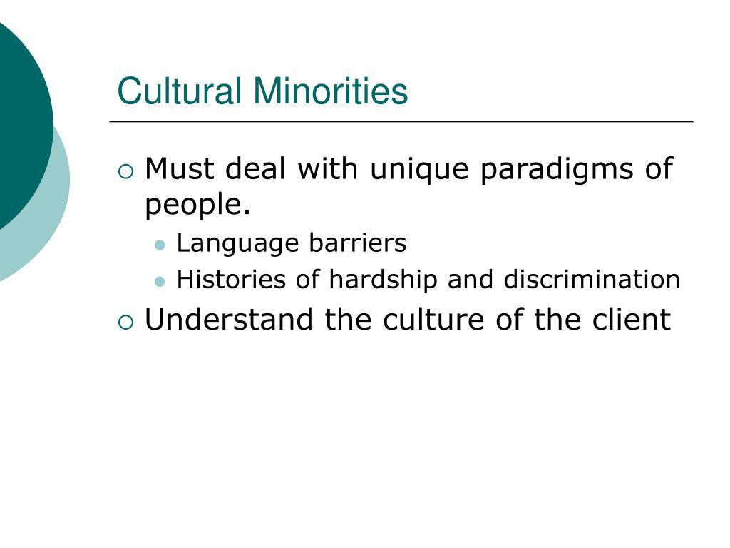 Cultural Minorities