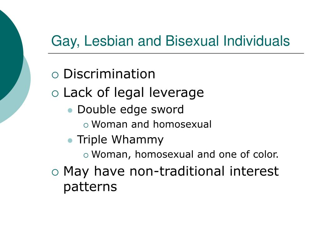 Gay, Lesbian and Bisexual Individuals