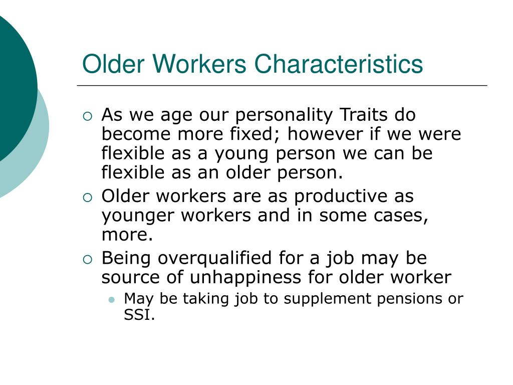 Older Workers Characteristics