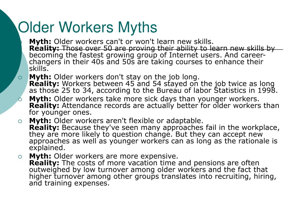 Older Workers Myths