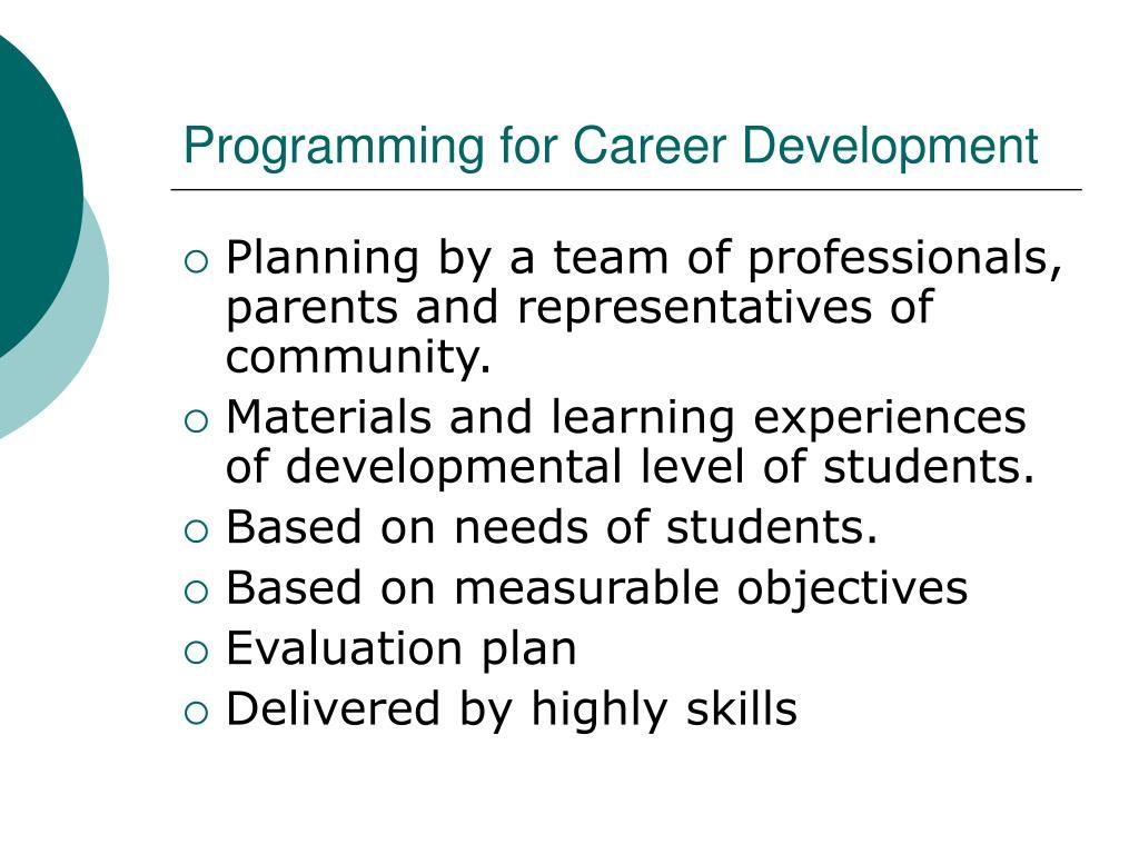 Programming for Career Development