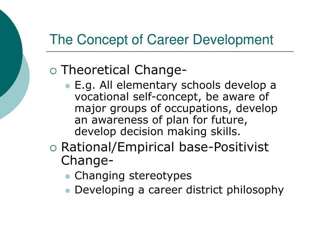 The Concept of Career Development