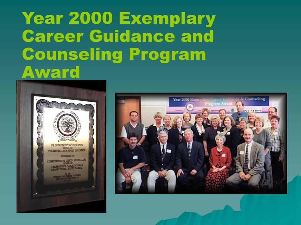 Year 2000 Exemplary Career Guidance and Counseling Program Award