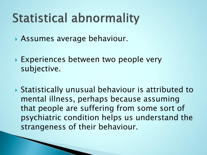 Statistical abnormality