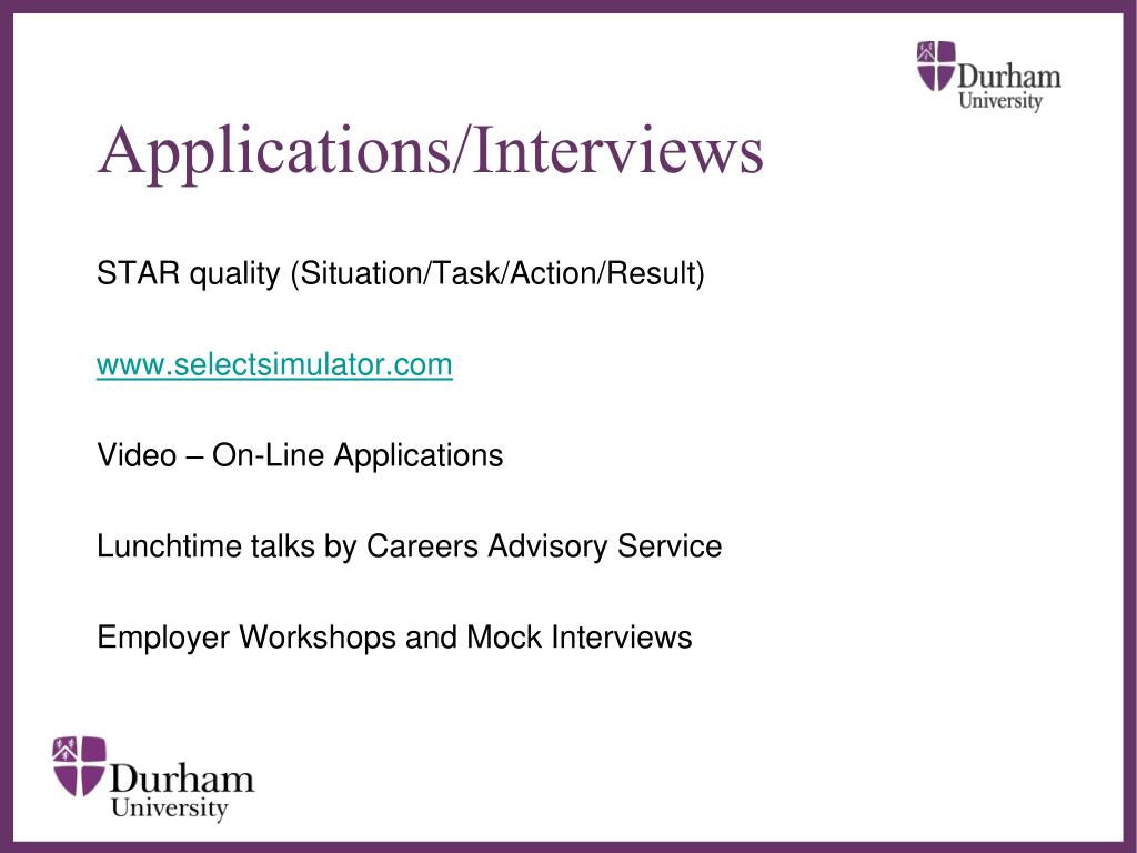 Applications/Interviews