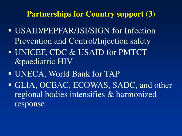 Partnerships for Country support (3)